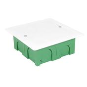 Boîte de dérivation carrée avec couvercle pour maçonnerie coloris vert dim.90x90mm haut.40mm sous film 1 pièce - Modulaires - Boîtes - Electricité & Eclairage - GEDIMAT