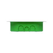 Boîte de dérivation rectangulaire avec couvercle pour maçonnerie coloris vert dim.230x170mm haut.50mm sous film 1 pièce - Modulaires - Boîtes - Electricité & Eclairage - GEDIMAT