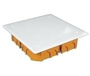 Boîte de dérivation électrique avec couvercle blanc pour cloison sèche dim.100x100mm prof.40mm coloris orange - Coffret modulaire de distribution électrique étanche 1 rangée de 7 modules équipé d'un interrupteur différentiel et 2 disjoncteurs - Gedimat.fr
