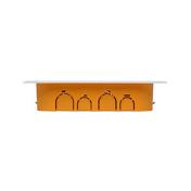 Boîte de dérivation électrique avec couvercle blanc pour cloison sèche dim.170x110mm prof.40mm coloris orange - Modulaires - Boîtes - Electricité & Eclairage - GEDIMAT