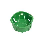 Boîte d'encastrement 1 poste à sceller ronde coloris vert diam.65mm haut.40mm 1 pièce - Modulaires - Boîtes - Electricité & Eclairage - GEDIMAT