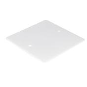 Couvercle carré pour boîte d'encastrement dim.120x120mm sous film 1 pièce - Modulaires - Boîtes - Electricité & Eclairage - GEDIMAT