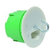 Boîte à encastrer point de centre pour cloison creuse pour luminaire diam.65mm avec couvercle et fiche DCL sous film 1 pièce - Hotte casquette WHIRLPOOL 60cm coloris blanc - Gedimat.fr