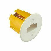 Pack applique pour cloison creuse et fiche/douille type DCL vendue en sachet - Boîte d'encastrement 1 poste pour cloison creuse diam.67mm prof.40mm coloris gris - Gedimat.fr
