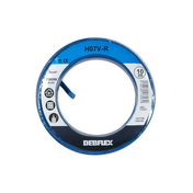 Câble électrique unifilaire cuivre H07VU section 6mm² coloris bleu en bobine de 10m - Câble électrique unifilaire cuivre H07VU section 6mm² coloris rouge en bobine de 10m - Gedimat.fr