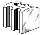 Pontet plastique renforcé pour plaque PVC translucide profil carré gréca haut.18mm en boîte de 100 pièces - Bloc béton cellulaire linteaux horizontal U de coffrage ép.24cm larg.25cm long.250cm - Gedimat.fr