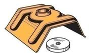 Cavalier Gréca laqué + rondelle, carte de 10 pièces - Bacs acier - Couverture & Bardage - GEDIMAT