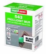Joint de carrelage PROLIJOINT MUR 543 sac de 1kg coloris blanc émail - Chant plat Pin des Landes sans noeud 2 arrondis section 8x40mm long.2,40m - Gedimat.fr