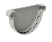 Fond de gouttière PVC de 25 NICOLL FCG25 coloris gris - Porte d'entrée AKITA avec isolation totale de 160 mm en acier gauche poussant haut.2,15m larg.90cm laqué gris - Gedimat.fr