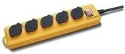 Bloc 5 prises PRO-LINE IP44 avec câble 2m HO7 RN-F 3G1,5 - Multiprises - Electricité & Eclairage - GEDIMAT