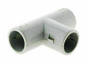 T� pour tube IRL diam.16mm coloris gris en sachet de 2 pi�ces - Gaines - Tubes - Moulures - Electricit� & Eclairage - GEDIMAT