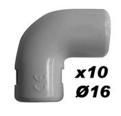 Coude pour tube IRL diam.25mm coloris gris en sachet de 10 pièces - Manchon pour tube IRL diam.16mm coloris gris en sachet de 10 pièces - Gedimat.fr