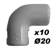 Coude pour tube IRL diam.20mm coloris gris en sachet de 10 pièces - Double de rive droite sans rabat DC12 coloris cathédrale - Gedimat.fr