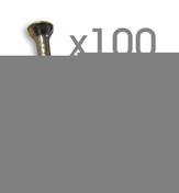 Attache cavalier plastique à clouer coloris blanc pour câble rond diam.9mm en sachet de 100 pièces - Attaches - Raccordements - Accessoires - Electricité & Eclairage - GEDIMAT