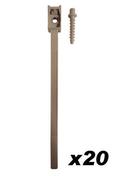 Collier attache câble à embase avec cheville diam.16 à 32mm en sachet de 10 pièces - Attaches - Raccordements - Accessoires - Electricité & Eclairage - GEDIMAT