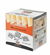 Crochet pour lambris bois R3 + pointes - boîte de 250 pièces - Lambris - Revêtements décoratifs - Revêtement Sols & Murs - GEDIMAT