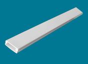 Moulure de distribution pour câble électrique larg.30mm haut.10mm coloris blanc long.2m - Gaines - Tubes - Moulures - Electricité & Eclairage - GEDIMAT