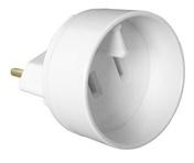 Adaptateur mâle standard européen / femelle standard américain 2P 16A coloris blanc - Multiprises - Electricité & Eclairage - GEDIMAT