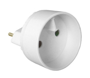 Adaptateur pour branchement nouvelles prises diam.4,8mm 16A sur anciennes prises diam.4mm 6A - Multiprises - Electricité & Eclairage - GEDIMAT
