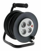 Enrouleur électrique 3G1,5mm² long.25m + 4 prises - Rallonges - Enrouleurs - Electricité & Eclairage - GEDIMAT