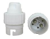 Douille électrique nylon simple bague culot B22 blanche - Fiches - Douilles - Adaptateurs - Electricité & Eclairage - GEDIMAT