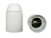 Douille électrique thermoplastique lisse culot à visser E27 coloris blanc - Fiches - Douilles - Adaptateurs - Electricité & Eclairage - GEDIMAT
