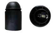 Douille électrique thermoplastique lisse culot à visser E27 coloris noir - Fiches - Douilles - Adaptateurs - Electricité & Eclairage - GEDIMAT