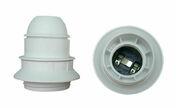 Douille électrique thermoplastique simple bague culot à visser E27 coloris blanc - Fiches - Douilles - Adaptateurs - Electricité & Eclairage - GEDIMAT