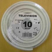 Câble coaxial pour antenne télévision type 17PATCA diam.6,8mm coloris blanc long.10m - Fils - Câbles - Electricité & Eclairage - GEDIMAT