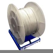 Câble électrique méplat double isolation H05VVH2F section 2x0,75mm² coloris blanc vendu à la coupe au ml - Fils - Câbles - Electricité & Eclairage - GEDIMAT