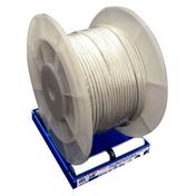 Câble électrique méplat double isolation H05VVH2F section 2x1,5mm² coloris gris vendu à la coupe au ml - Escalier 1/4 tournant kit KOMPACT acier/bois haut.2,25/3,03m larg.74cm gris/hêtre - Gedimat.fr