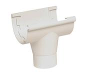 Naissance centrale à coller pour gouttière PVC de 25 NICOLL NAC25B coloris blanc - Kit main courante au mur STEEL 30 long.1,50m - Gedimat.fr