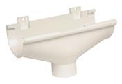 Naissance centrale à dilatation pour gouttière PVC de 25 NICOLL NAD25B coloris blanc - Receveur rectangulaire à poser ou à encastrer BASE akron haut.3cm larg.90cm long.1,00m beton cimento - Gedimat.fr