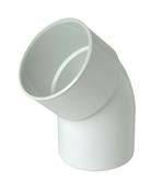 Coude PVC pour tube de descente de gouttière NICOLL diam.80mm angle 45° mâle femelle coloris blanc - Bois Massif Abouté (BMA) Sapin/Epicéa non traité section 60x160 long.11m - Gedimat.fr