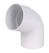 Coude PVC pour tube de descente de gouttière NICOLL diam.80mm angle 67°30 mâle femelle coloris blanc - Tuile sablière gargouille ROMANE-CANAL coloris vieilli Languedoc - Gedimat.fr