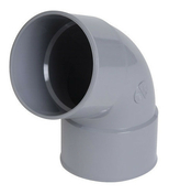 Coude PVC pour tube de descente de gouttière NICOLL diam.80mm angle 67°30 femelle femelle coloris blanc - Peinture sol semi-brillante intérieur/extérieur 2,5L gris souris - Gedimat.fr