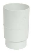 Manchon PVC femelle femelle pour tube de descente de gouttière diam.80mm coloris blanc - Carrelage pour sol en grès cérame émaillé WALL dim.33,3x33,3 cm coloris steel - Gedimat.fr