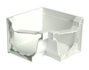 Angle intérieur pour gouttière PVC corniche moulurée NICOLL ELITE ACI30B angle 90° coloris blanc - Rive individuelle gauche à emboîtement PANNE H2 HUGUENOT coloris ardoise - Gedimat.fr