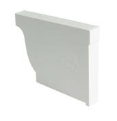 Fond de gouttière PVC corniche moulurée NICOLL ELITE droit coloris blanc - Tuile et 1/2 PLATE 17x27 Phalempin coloris ambre - Gedimat.fr