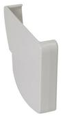 Fond de naissance droit pour gouttière PVC moulurée NICOLL OVATION 28 FDC28B coloris blanc - Brique terre cuite arase POROTHERM R15 ép.15cm haut.12,4 cm long.50cm - Gedimat.fr
