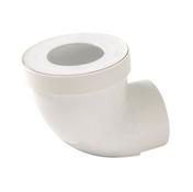 Pipe de sortie de cuvette WC NICOLL PVC courte avec entrée à joint diam.85/107mm sortie mâle diam.93mm long.40mm coloris blanc - Manchon de dilatation en PVC mâle-femelle diam.100mm - Gedimat.fr