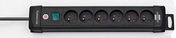 Multiprise PREMIUM PLUS 6 prises noir - Multiprises - Electricité & Eclairage - GEDIMAT