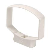 Collier de fixation NICOLL OVATION pour tube de descente section 105x76mm COMGTB coloris blanc - Accessoires de fixation - Couverture & Bardage - GEDIMAT