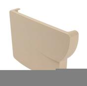 Fond gauche pour gouttière PVC moulurée NICOLL OVATION 38 FG38B coloris sable - Poutre VULCAIN section 25x65 cm long.6,50m pour portée utile de 5,6 à 6,10m - Gedimat.fr