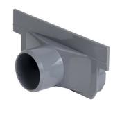 Fond/naissance PVC pour caniveau hydraulique NICOLL NAH773 gamme connecto bas larg.130mm sortie d'extrémité ou latérale diam.40mm - Porte d'entrée Aluminium MUSIA avec isolation totale de 100mm droite poussant haut.2,15m larg.90cm laqué blanc - Gedimat.fr