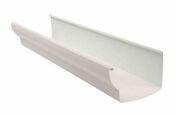 Gouttière PVC à coller NICOLL OVATION LG38B long.4m coloris blanc - Poinçon pomme de pin coloris brun - Gedimat.fr