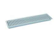 Grille PVC pour caniveau NICOLL GR77P gamme connecto modèle piscine coloris gris clair long.0,5m - Poutre en béton précontrainte PSS LEADER section 20x20cm long.3,00m - Gedimat.fr