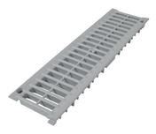 Grille PVC pour caniveau NICOLL GRL77 gamme connecto à haute capacité d'absorption coloris gris clair long.0,5m - Bloc béton à bancher rectifié PLANICOFFRE ép.20cm haut.20cm long.50cm - Gedimat.fr