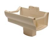 Naissance centrale à dilatation pour gouttière PVC corniche moulurée NICOLL OVATION 38 NAD381S sortie pour tuyau diam.105x76mm coloris sable - Poutrelle en béton LEADER 146 haut.14cm larg.10cm long.6,90m - Gedimat.fr