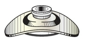 Plaquette aluminium avec rondelle à cheminée diam.6mm pour tôle ondulée sur bois - boite de 100 pièces - Poinçon épi pout faîtage TERREAL coloris rouge flammé - Gedimat.fr